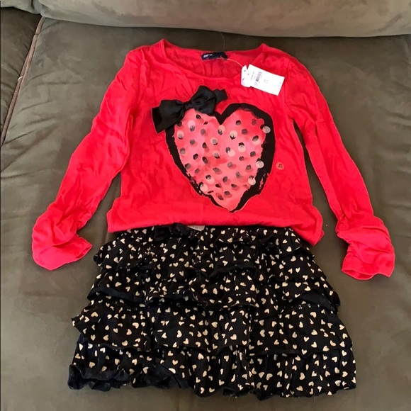 NWT BABY GIRL BABY GAP OUTFIT SIZE 0-3 MONTHS BOW-BACK BUBBLE SHORT SET